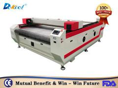 China 1825 good co2 laser leather fabric cloth cutting machine producer