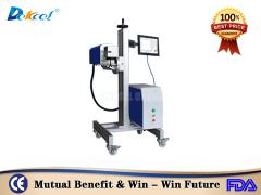 Low price online flying co2 laser nonmetal marker machine with production line