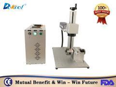 Mini 20W metal fiber laser marking machine for carton steel China manufacturer